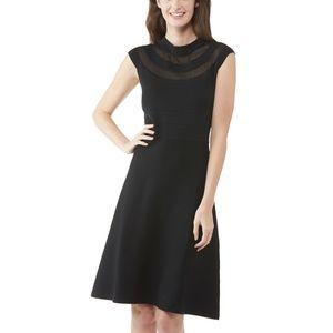 NWT Ronnie Nicole Fit & Flare Black Sweater Dress